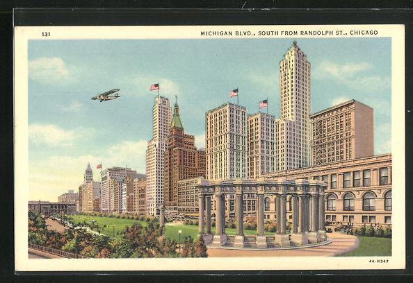 AK Chicago, IL, Michigan Boulevard, South from Randolph Street