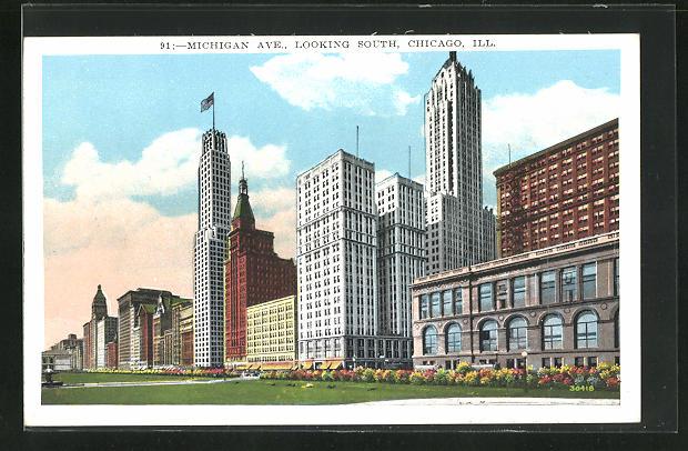 AK Chicago, IL, Michigan Avenue looking South
