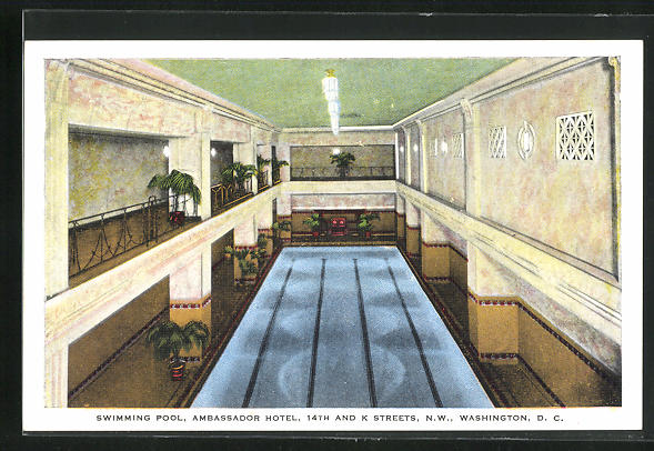 AK Washington D.C., Ambassador Hotel, 14th and K Streets, Swimming Pool