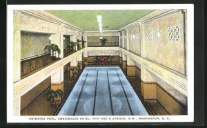 AK Washington D.C., Ambassador Hotel, 14th and K Streets, the Swimming Pool