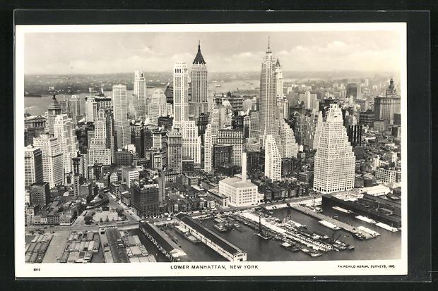 AK New York, NY, Skyline of Lower Manhattan