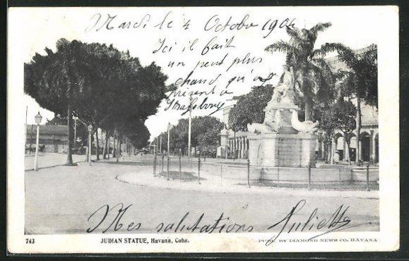 AK Havanna, Cuba, Judian Statue