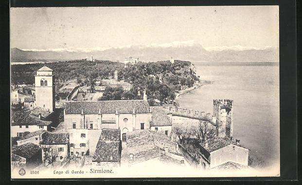AK Sirmione, Lago di Garda, Gebirge und See