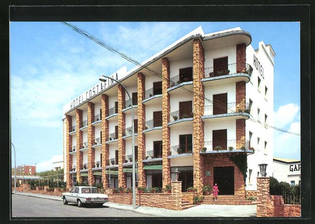 AK Tarragona, Hotel Costafina, Eckfassade mit Eingang 0