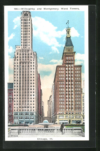 AK Chicago, IL, Willoughby and Montgomery Ward Towers