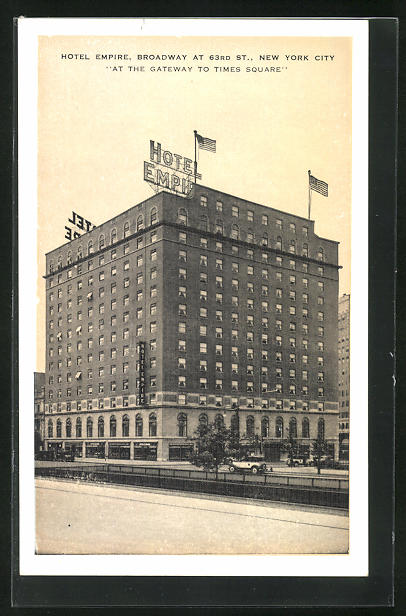 AK New York, NY, Hotel Empire, Broadway at 63rd St.