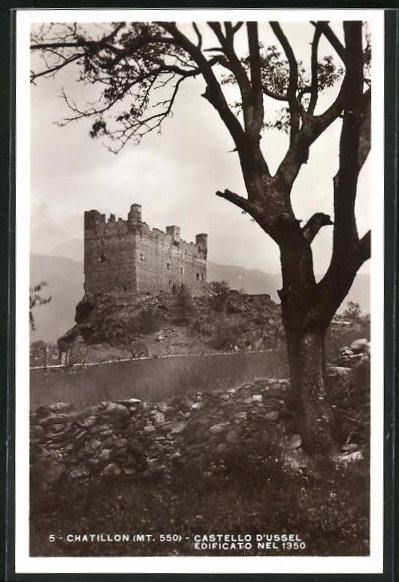 AK Chatillon, Castello d`Ussel, edificato nel 1350