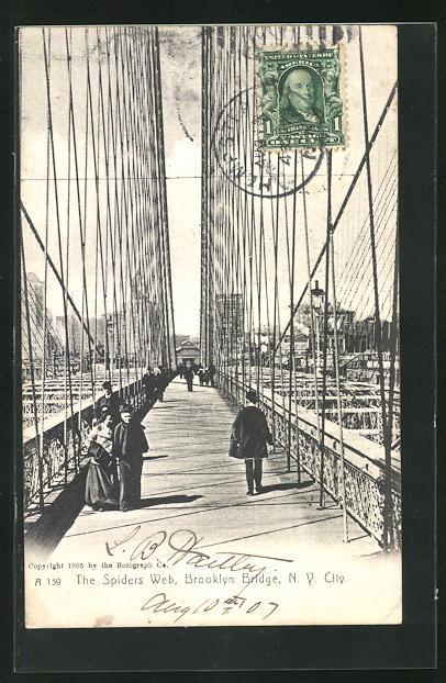 AK New York, NY, Brooklyn Bridge