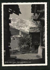 AK Valtournanche / Valle d`Aosta, Teilansicht gegen die Berge