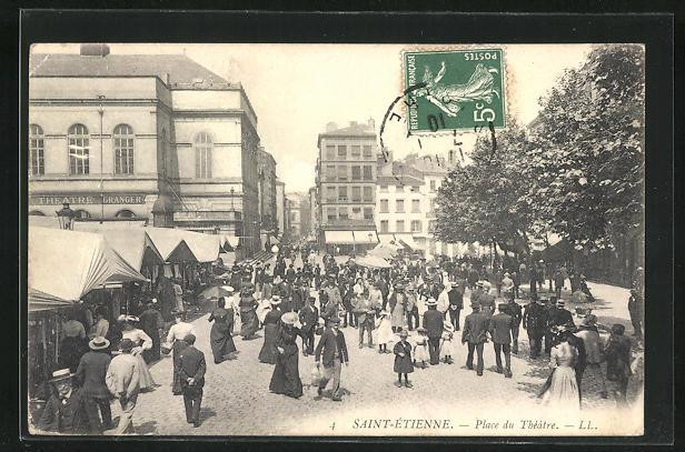 AK Saint-Etienne, Place du Theatre, Theatre Granger