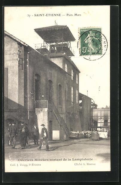 AK Saint-Etienne, Ouvriers Mineurs sortant de la Lampisterie