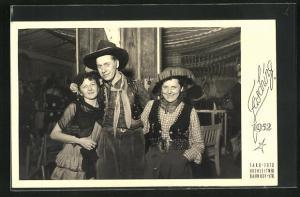 AK Fasching 1952, Cowgirl und Cowboy