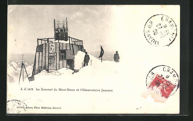 AK Le Sommet du Mont-Blanc et le Obeservatoire Janssen, Sternwarte
