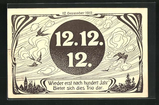 AK 12. Dezember 1912, Wieder erst nach hundert Jahr`..., Jugendstil