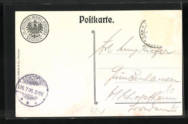 AK Schützenverein, Deutsches Bundesschiessen München 1906, Festhalle 1