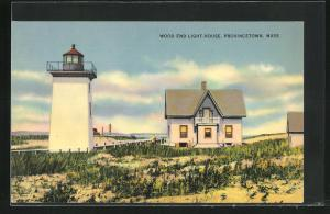 AK Provincetown, Mass., Wood End Light-House, Leuchtturm