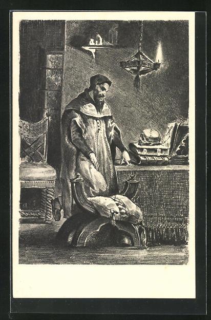 AK Eugene Delacroix: Zu Goethes Faust, Der Trägödie erster Teil