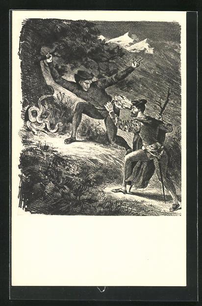 AK Eugene Delacroix: Zu Goethes Faust