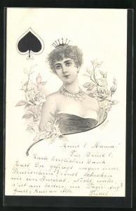 AK Pik-Dame, Kartenspiel