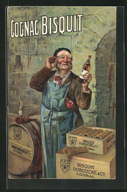 AK Reklame für Cognac Bisquit