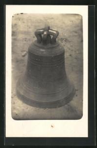 Foto-AK Kirchen Glocke mit Inschrift