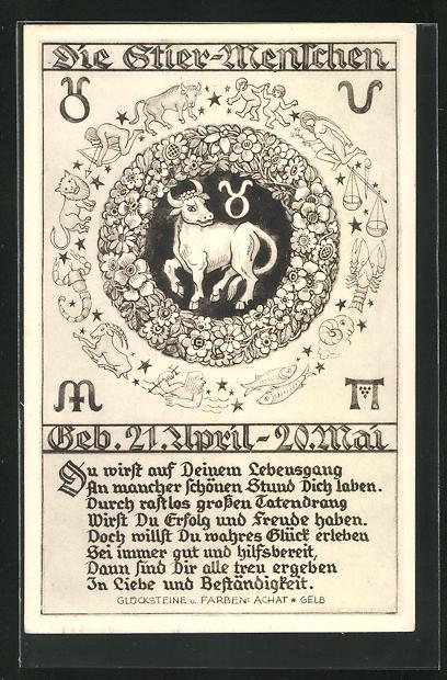 Stier geburtstag sternzeichen gedicht Sternzeichen Sprüche