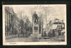 AK Dortmund, Bismarckdenkmal an der Südwall-Strasse