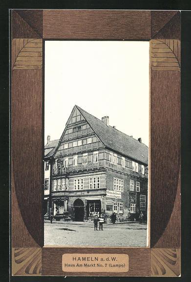 AK Hameln a. d. W., Haus am Markt 7, Lampe