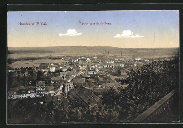 AK Homburg / Pfalz, Blick vom Schlossberg