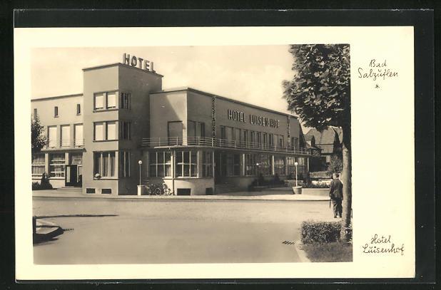 AK Bad Salzuflen, Hotel Luisenhof Architektur im Bauhaus Stil