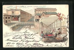 Lithographie Salzuflen, Hoffmann`s Stärkefabriken, Druckerei & Pappen-Fabrik, Druckerei