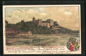Künstler-AK Erwin Spindler: Bernburg, Herzogliches Schloss