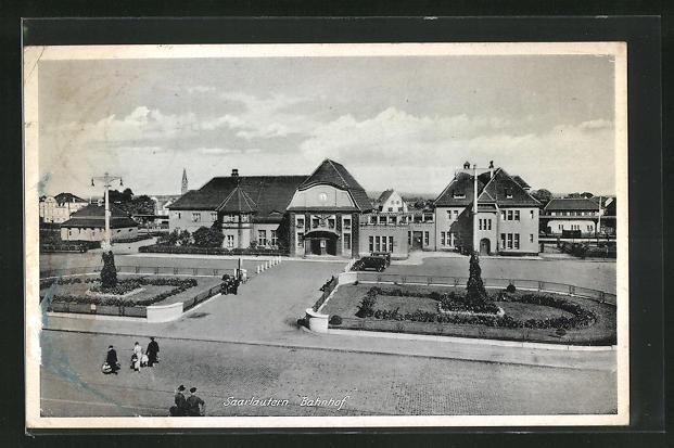 AK Saarlautern, Blick zum Bahnhof