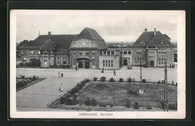 AK Saarlouis, Blick zum Bahnhof