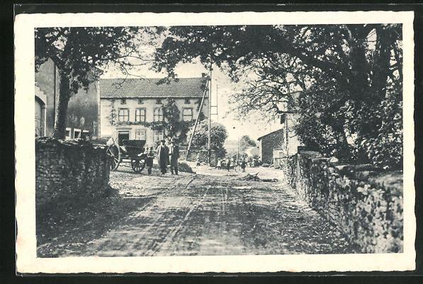 AK Leidingen, Ehemalige deutsch-französische Grenzstrasse, Grenze