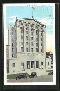 AK Lansing, MI, Masonic Temple, Freimaurer