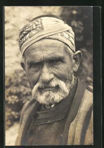 Foto-AK Arabischr Mann mit Bart und Turban