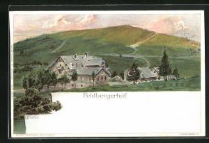 Künstler-AK Carl Biese: Feldbergerhof im Abendlicht