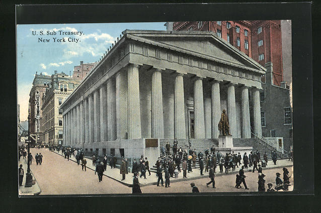 AK New York, NY, U. S. Sub Treasury, Bank