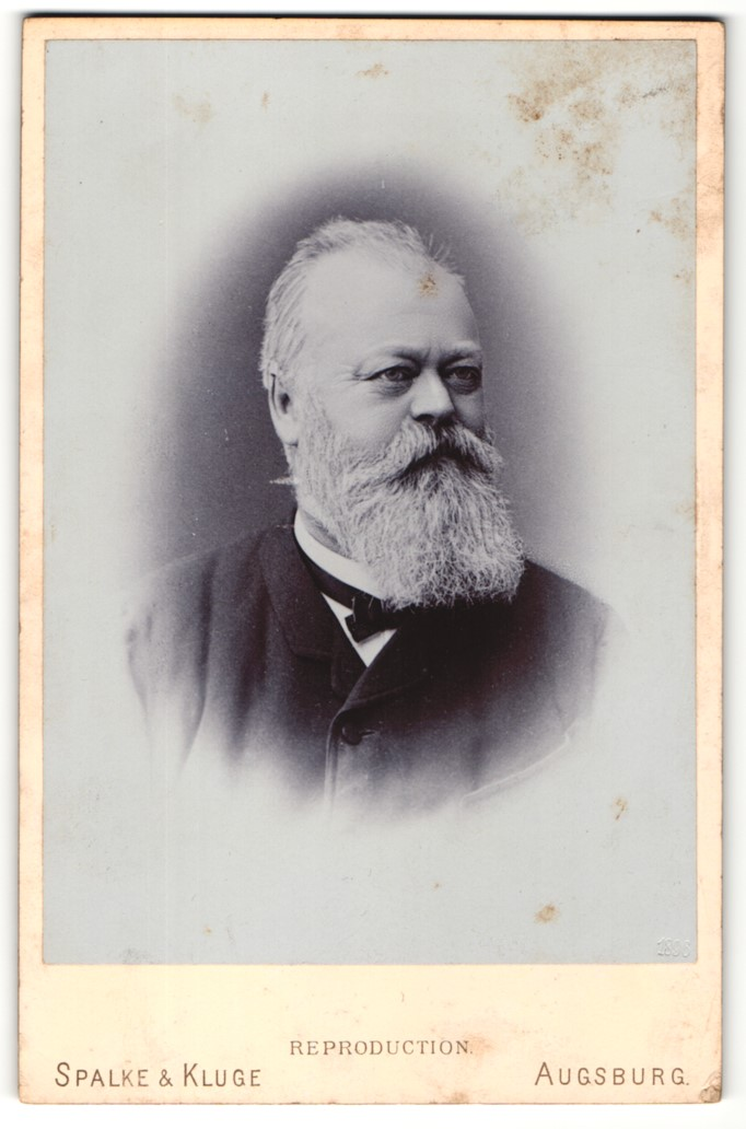 Fotografie Spalke & Kluge, Augsburg, Portrait Johann Norbert Eberle, Gründer der Sägefabrik in Pfersee