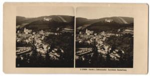 Stereo-Fotografie NPG, Ansicht Leutenberg im Sormitztal, Panorama
