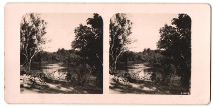 Stereo-Fotografie Ansicht Jordan, Motiv des Flusses