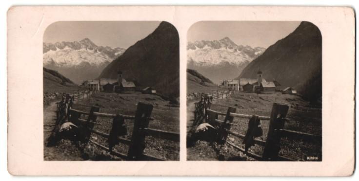 Stereo-Fotografie Ansicht Mayen Dörflig im Reussthal