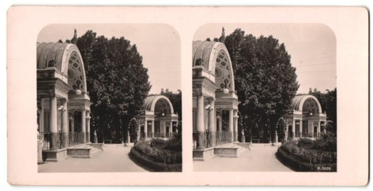 Stereo-Fotografie Ansicht Palermo, die Villa Giulid