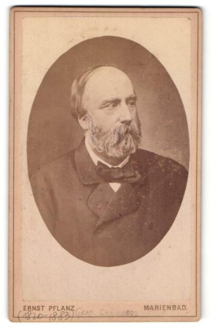 Fotografie Ernst Pflanz, Marienbad, Henri d`Artois, König von Frankreich