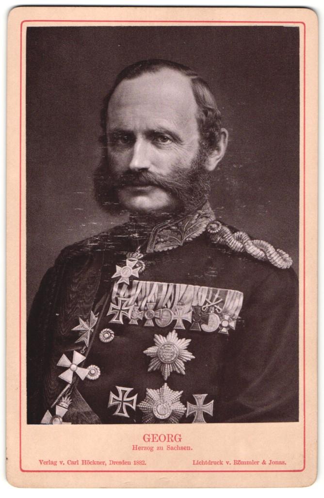 Fotografie Römmler & Jonas, Dresden, Portrait Georg, Herzog zu Sachsen