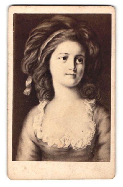 Fotografie Portrait Sophie Potocka, berühmte Schönheit des 18. /19. Jahrhunderts