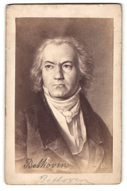 Fotografie Portrait van Beethoven