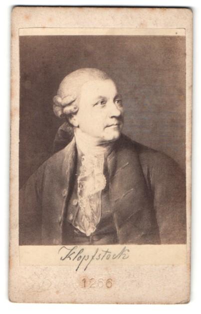 Fotografie Portrait Friedr. Gottlieb Kloppstock, Dichter