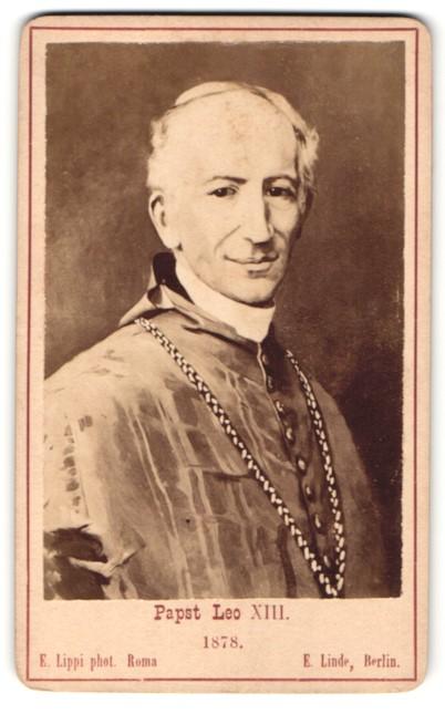 Fotografie E. Lippi, Roma, Portrait Papst Leo XIII.
